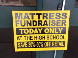 Mattress Sale Fundraiser supporting Baseball and Chorus